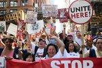 Pochód pierwszomajowy w obronie imigrantów