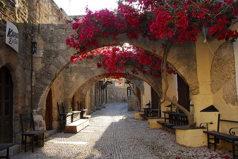 Starówka w Rodos, Grecja